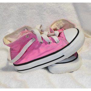 Converse Pink Chuck Taylor High Tops size 6